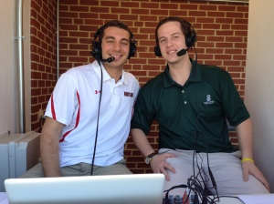 Lewis (right) served as a color analyst for MBN in 2015.
