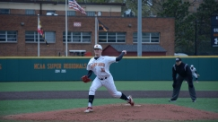 Sean Fisher pitches for an inning. Photo by Amanda Broderick/Maryland Baseball Network