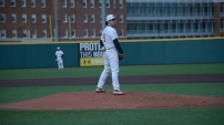 Billy Phillips getting ready to pitch. Photo by Amanda Broderick/Maryland Baseball Network
