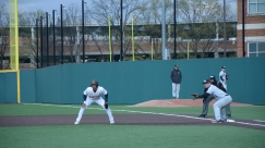 AJ Lee leads off first after his base hit. Photo by Amanda Broderick/Maryland Baseball Network