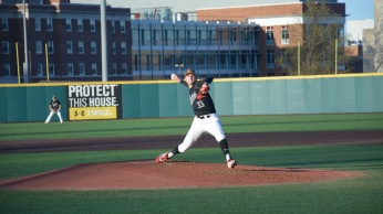 Freshman Mark DiLuia gets his career first series start. Photo by Amanda Broderick/Maryland Baseball Network