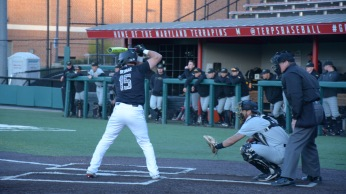 Randy Bendar at bat. Photo by Amanda Broderick/Maryland Baseball Network