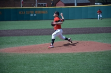 Hunter Parsons throwing a pitch. Photo by Amanda Broderick/Maryland Baseball Network