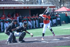 Tommy Gardiner at bat. Photo by Amanda Broderick/Maryland Baseball Network