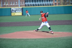 Pitcher Hunter Parsons on the mound. Photo by Amanda Broderick/Maryland Baseball Network