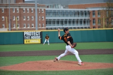 Tyler Blohm completed 6 innings this game. Photo by Amanda Broderick/Maryland Baseball Network