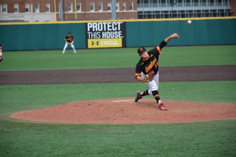 Freshman Grant Burleson starting on the mound. Photo by Amanda Broderick/Maryland Baseball Network